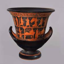 წითელფიგურული კრატერი და ბერძნული მითოლოგია